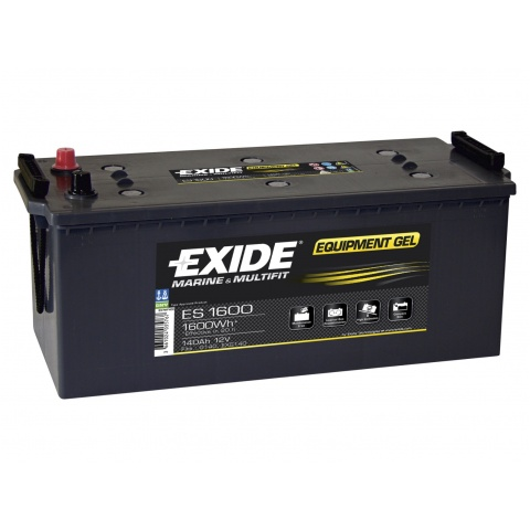 Akumulator 12V 140Ah EXIDE EQUIPMENT GEL ES1600